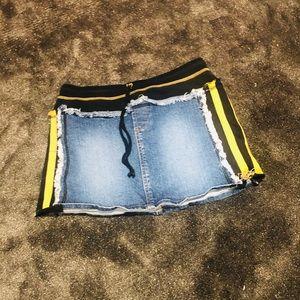 Super cute denim mini skirt